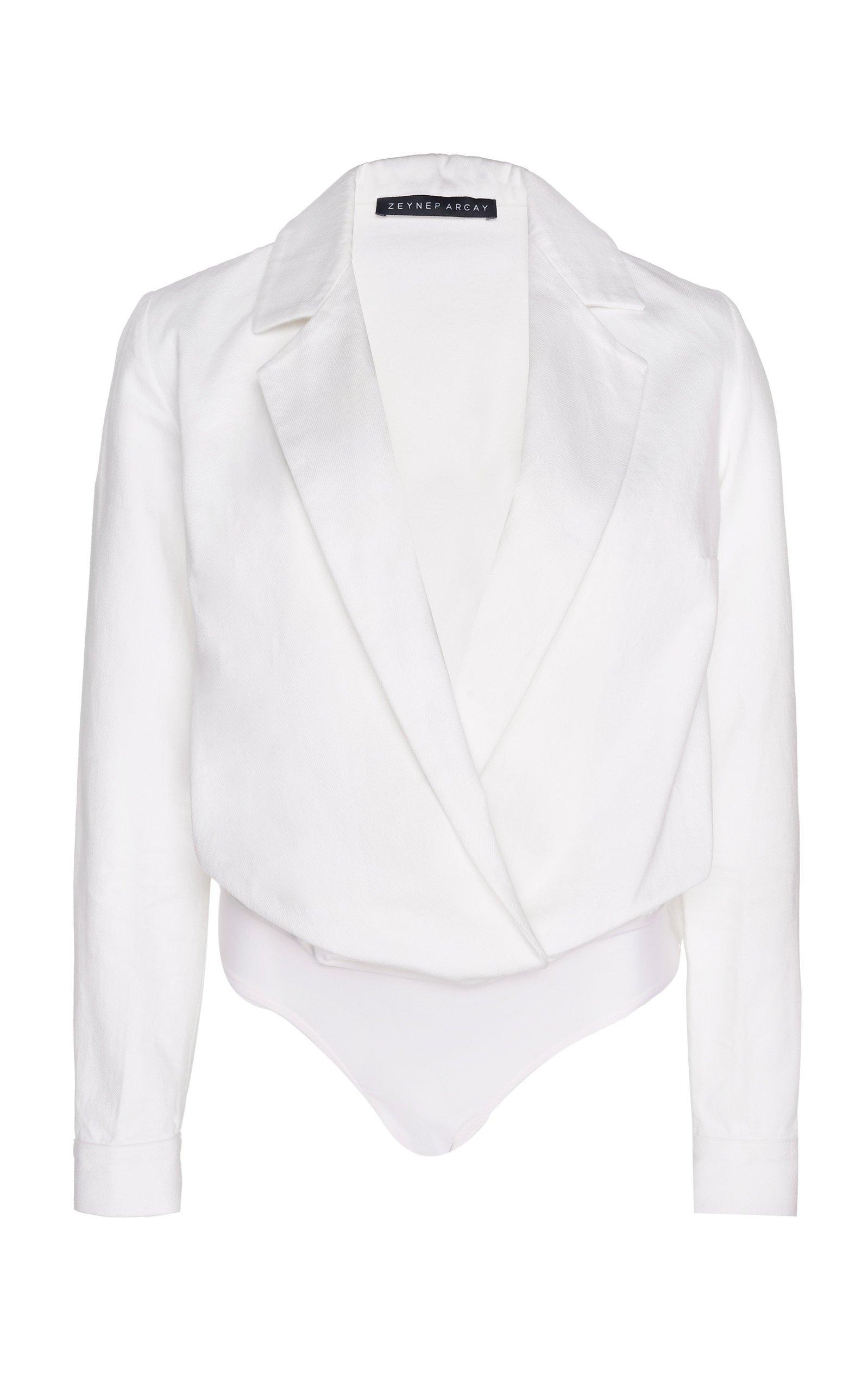 Denim Bodysuit by Zeynep Arçay | Moda Operandi