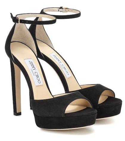 Pattie 130 suede plateau sandals
