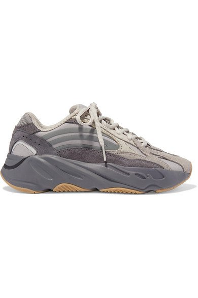 adidas Originals | Yeezy Boost 700 V2 mesh, suede and leather sneakers | NET-A-PORTER.COM