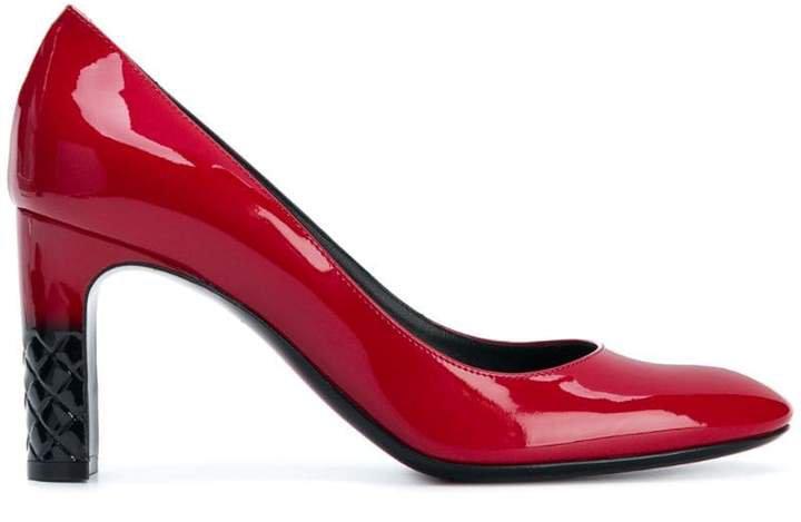 China red patent calf Isabella pump