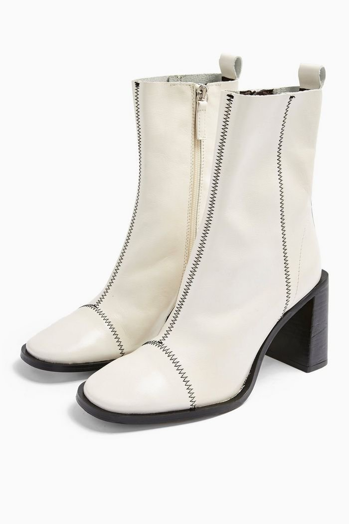 HOMERUN White Leather Boots | Topshop