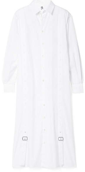 Oversized Cotton-poplin Shirt - White
