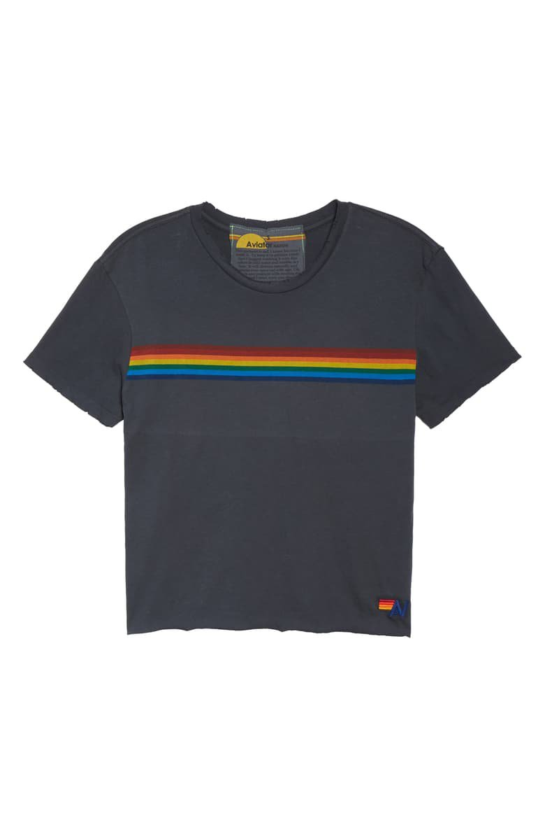 Aviator Nation Rainbow Tee navy