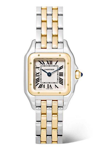 Cartier | Panthère de Cartier 22mm small 18-karat gold and stainless steel watch | NET-A-PORTER.COM