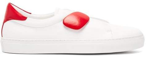 Dynamo Leather Trainers - Womens - Red White