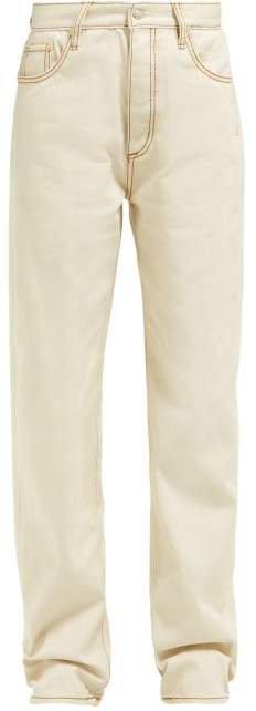 Benz Straight Leg Jeans - Womens - Ivory
