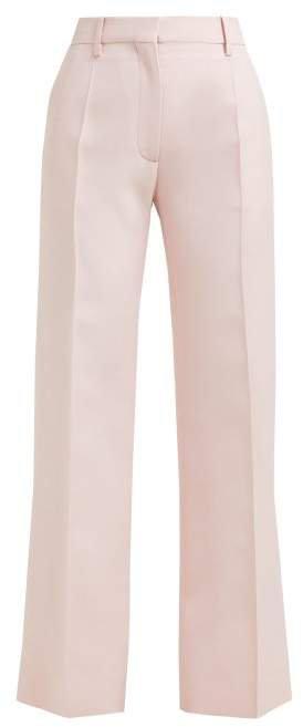 Tailored Virgin Wool Blend Trousers - Womens - Pink