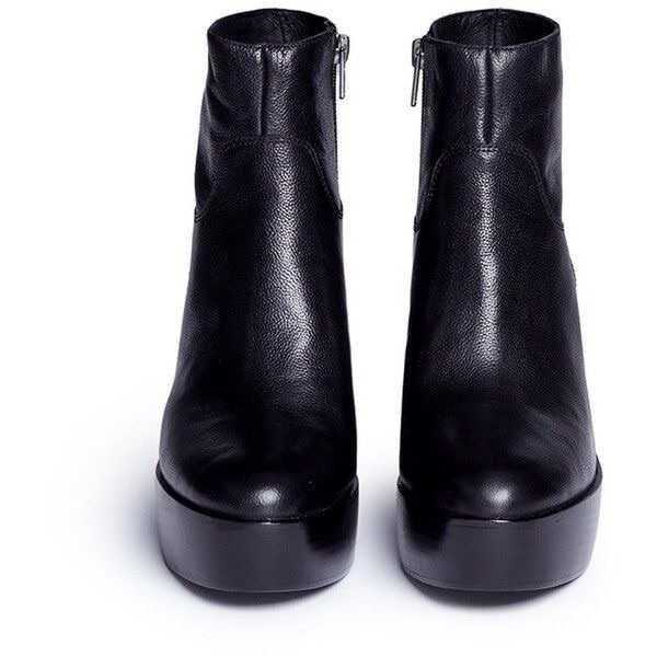 Ash 'Dakota' leather Platform Ankle Boots