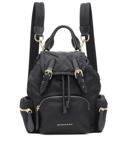 Leather-trimmed rucksack
