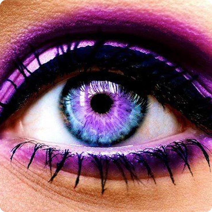 purple eye contacts