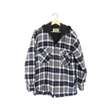 men black flannel hoodie