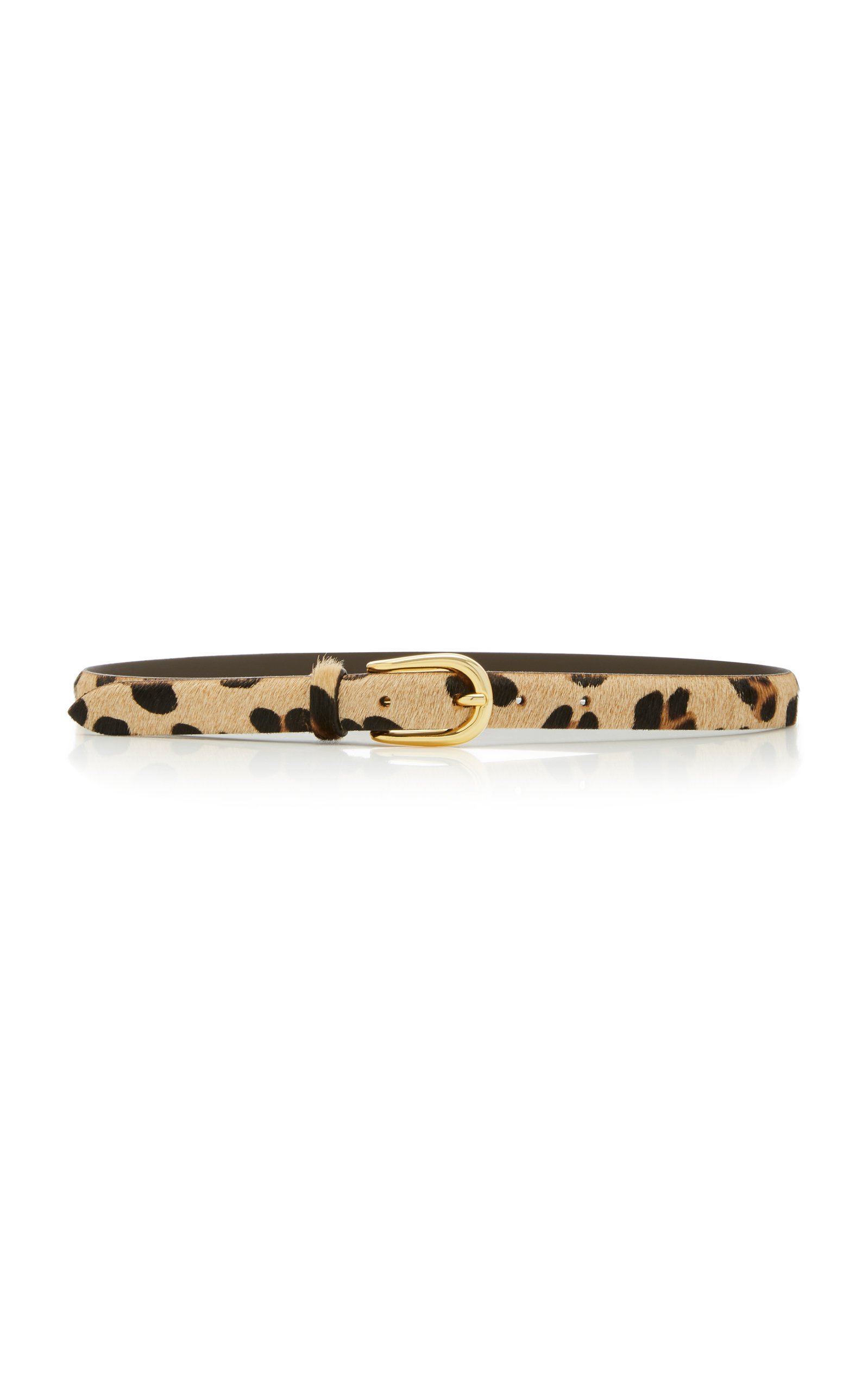 Anderson's Animal-Print Leather Belt Size: 90 cm