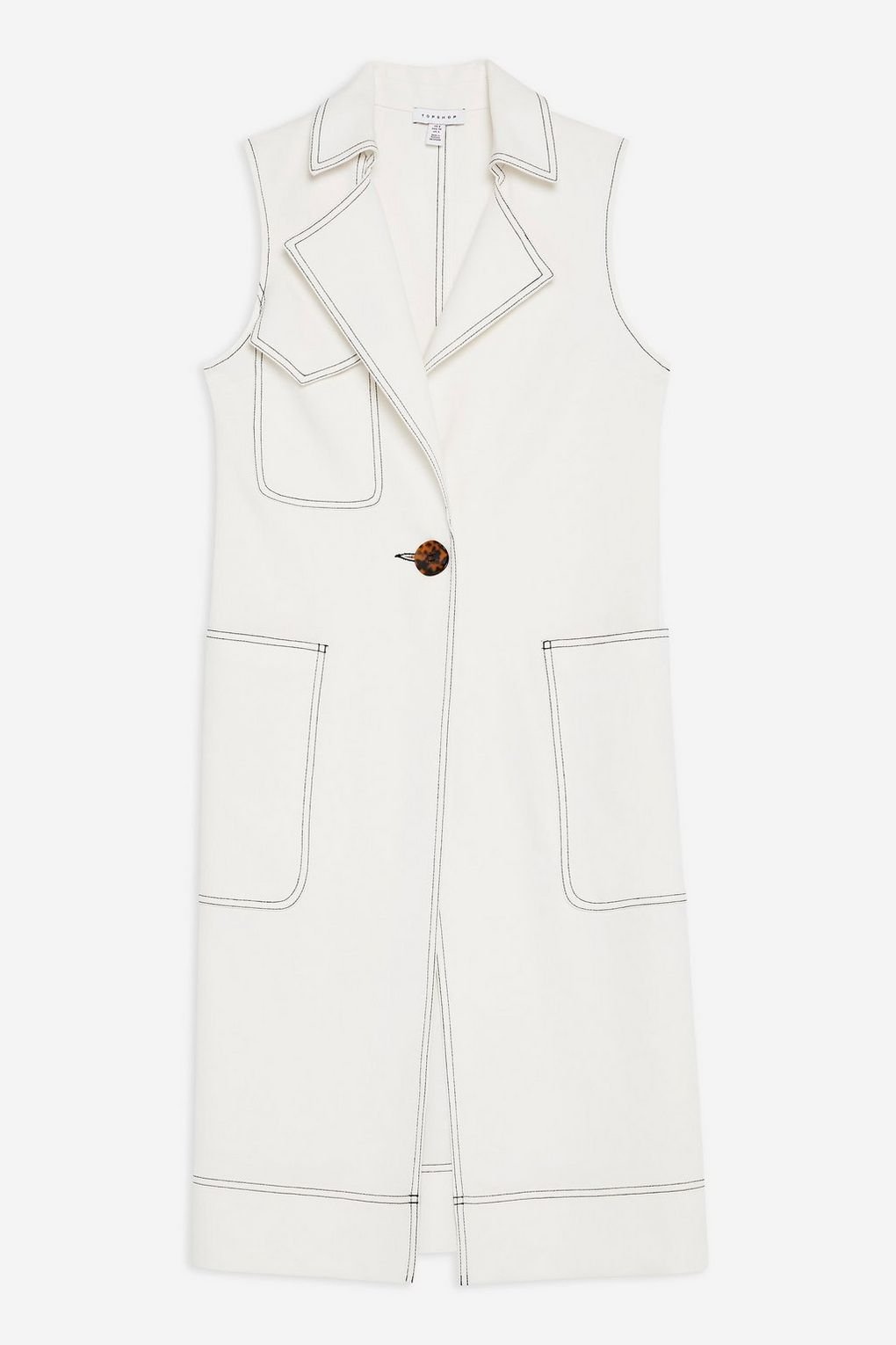 Utility Sleeveless Duster Coat - Topshop USA