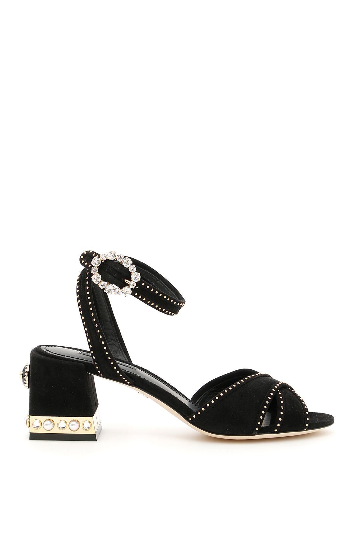 Dolce & Gabbana Suede Keira Sandals With Micro Studs