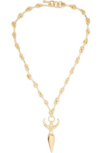 Chloé | Femininities gold-tone necklace | NET-A-PORTER.COM