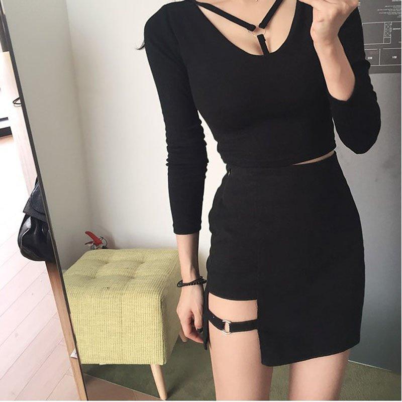 Women-Skirt-Aesthetic-Tumblr-2018-New-Cool-Harajuku-Punk-Mini-Skirt-Womens-Gothic-Summer-Fashion-Hollow.jpg (800×800)