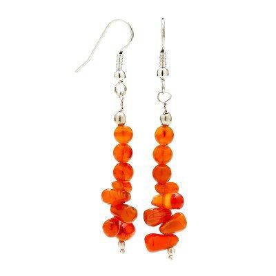 Buy Carnelian Handmade Gemstone Earrings | Mystic Self LLC