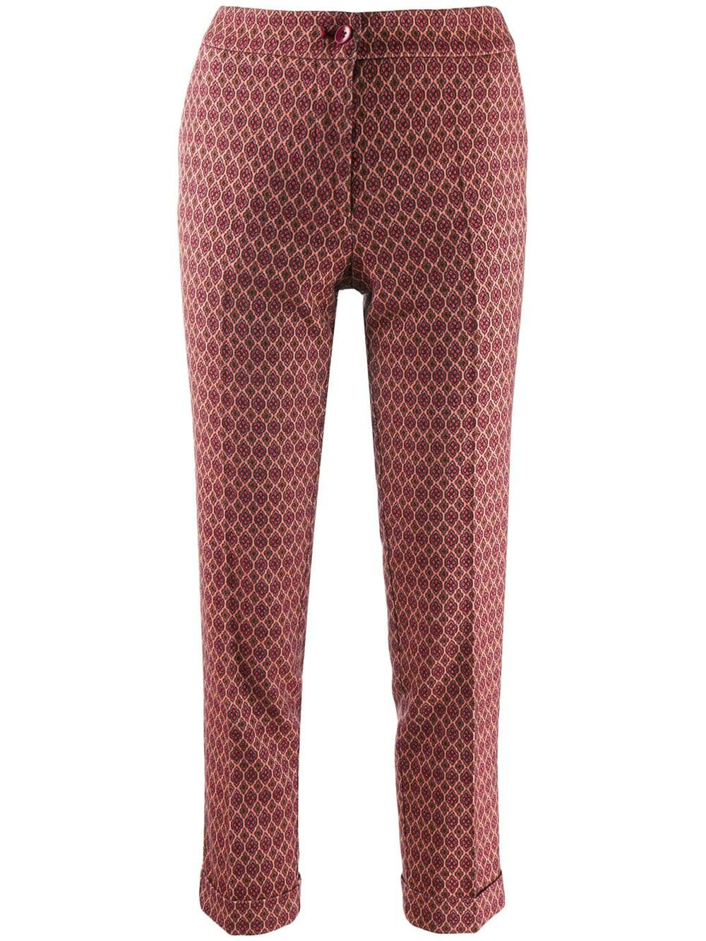 Etro Cropped Slim Fit Trousers - Farfetch