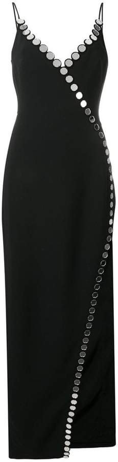 circle embellished trim gown