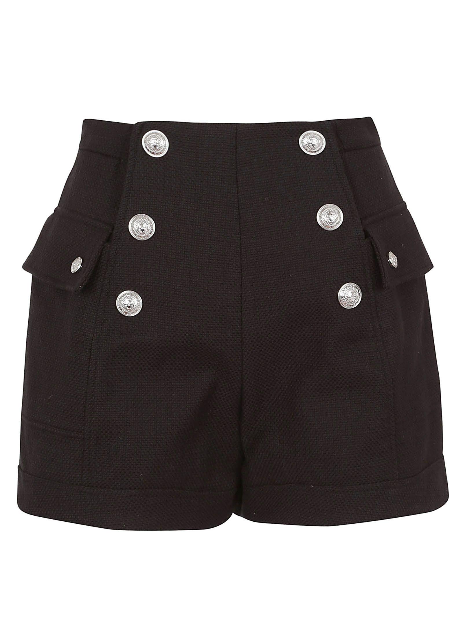 Balmain Balmain Six Button High Waist Shorts