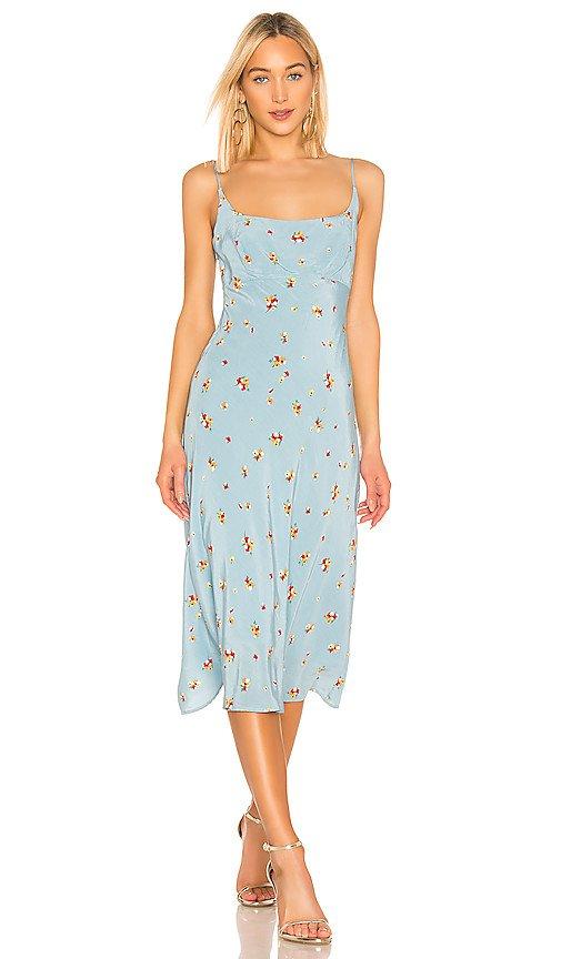 ASTR the Label Joan Dress in Sky Blue Pansy   REVOLVE