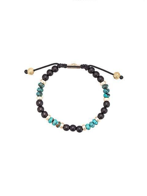 Nialaya Jewelry Ebony and Bali Turquoise beaded bracelet
