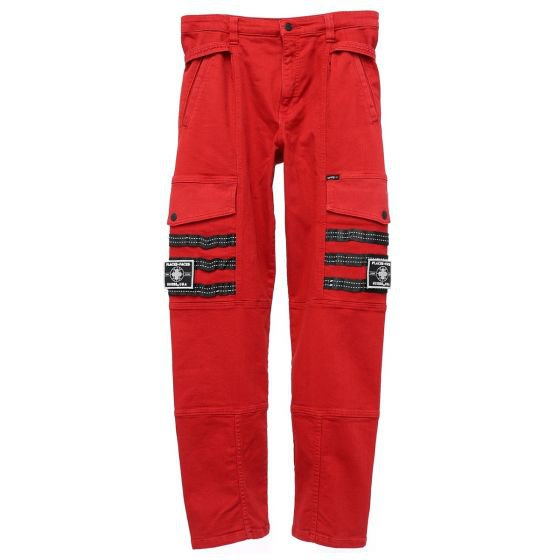 PLACES+FACES x GUESS JEANS U.S.A. PF CARGO TECHNICAL PANT / G544 : ROSE RED
