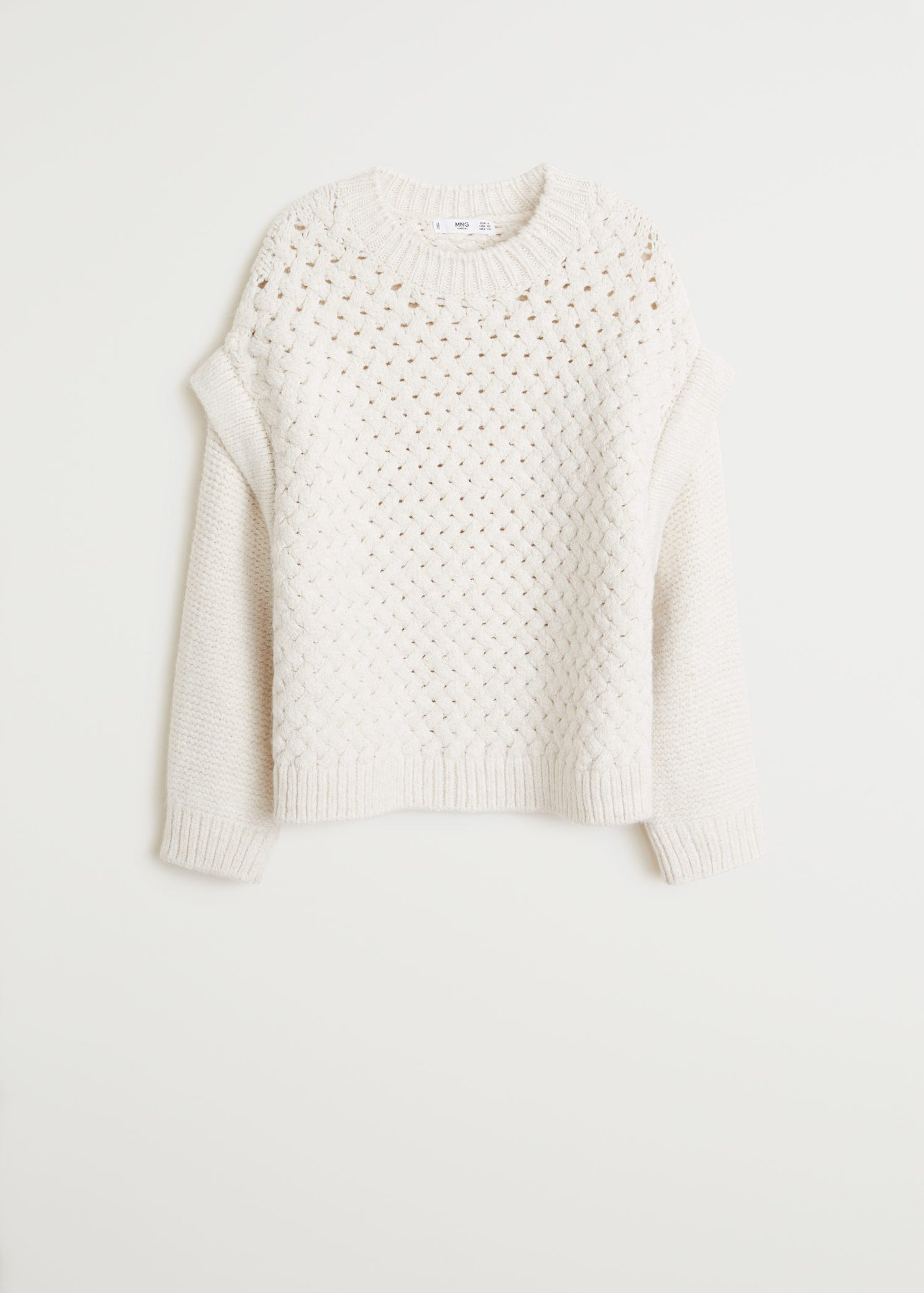 Open-knit sweater - white - Women | Mango USA