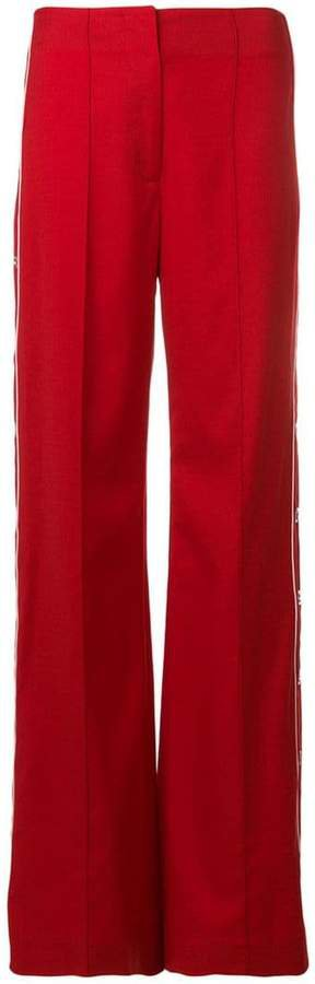 snap detail trousers