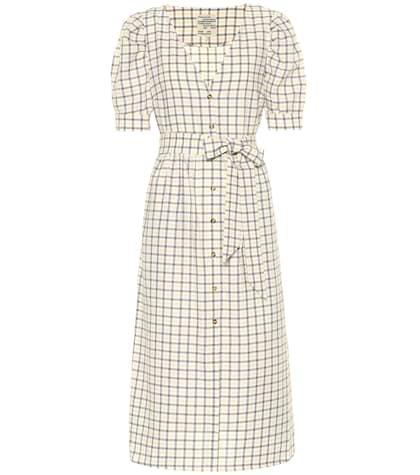 Exclusive to Mytheresa – Alma checked cotton midi dress