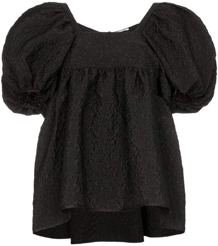 Cecilie Bahnsen puff-sleeve textured top