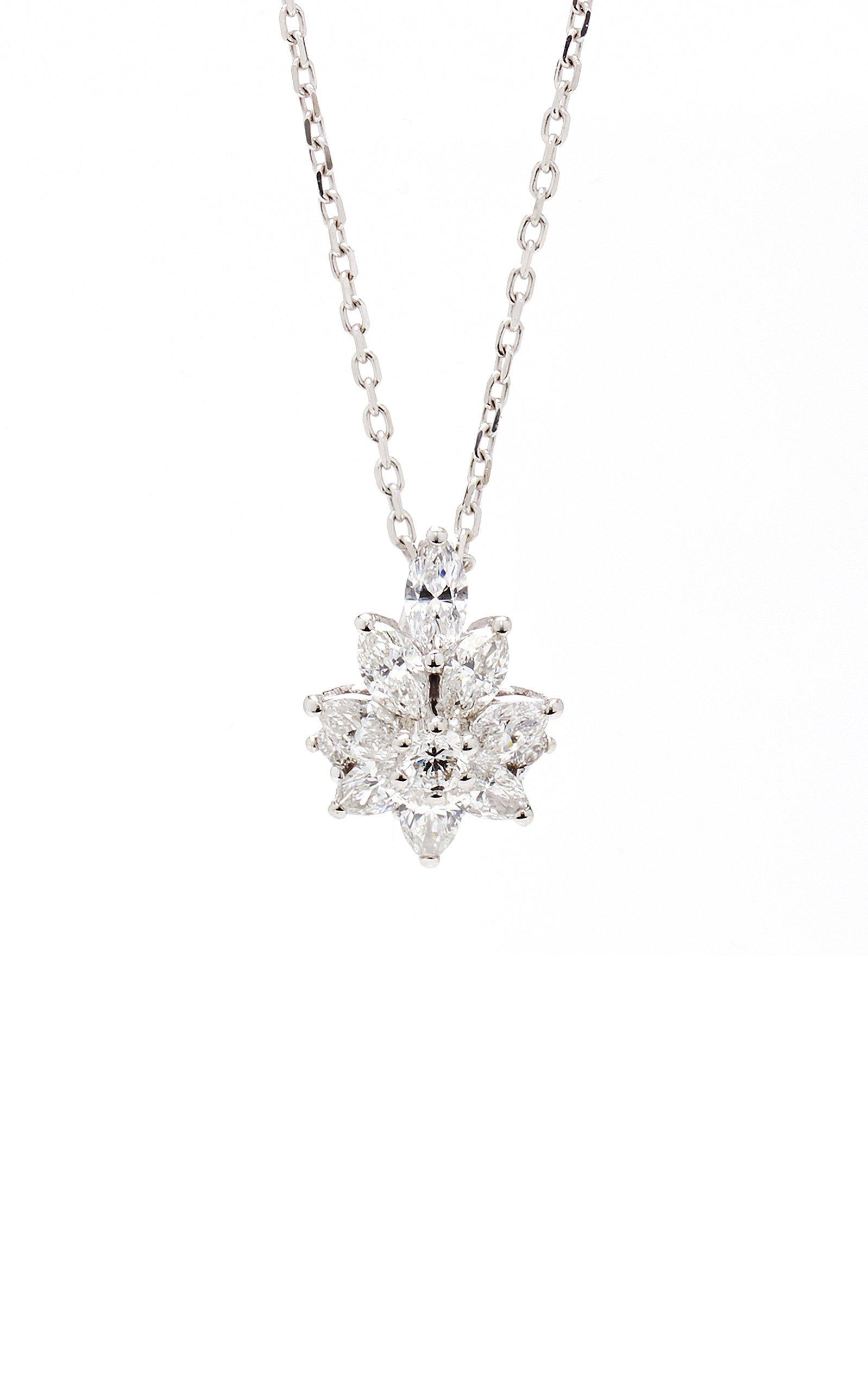 Star Pendant 18K White And Diamond Necklace by Yeprem | Moda Operandi