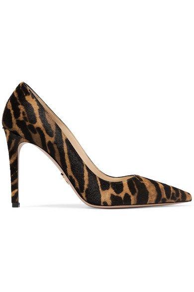 Prada   100 leopard-print calf hair pumps   NET-A-PORTER.COM