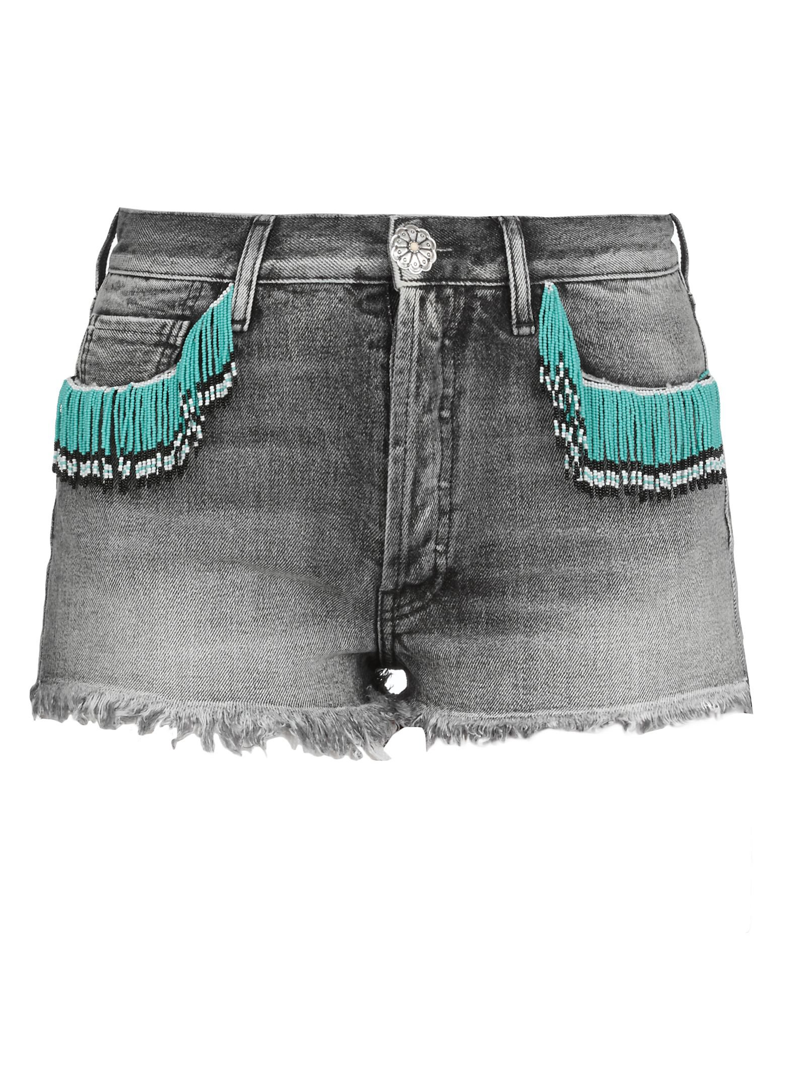 Alanui Cotton Jeans Shorts