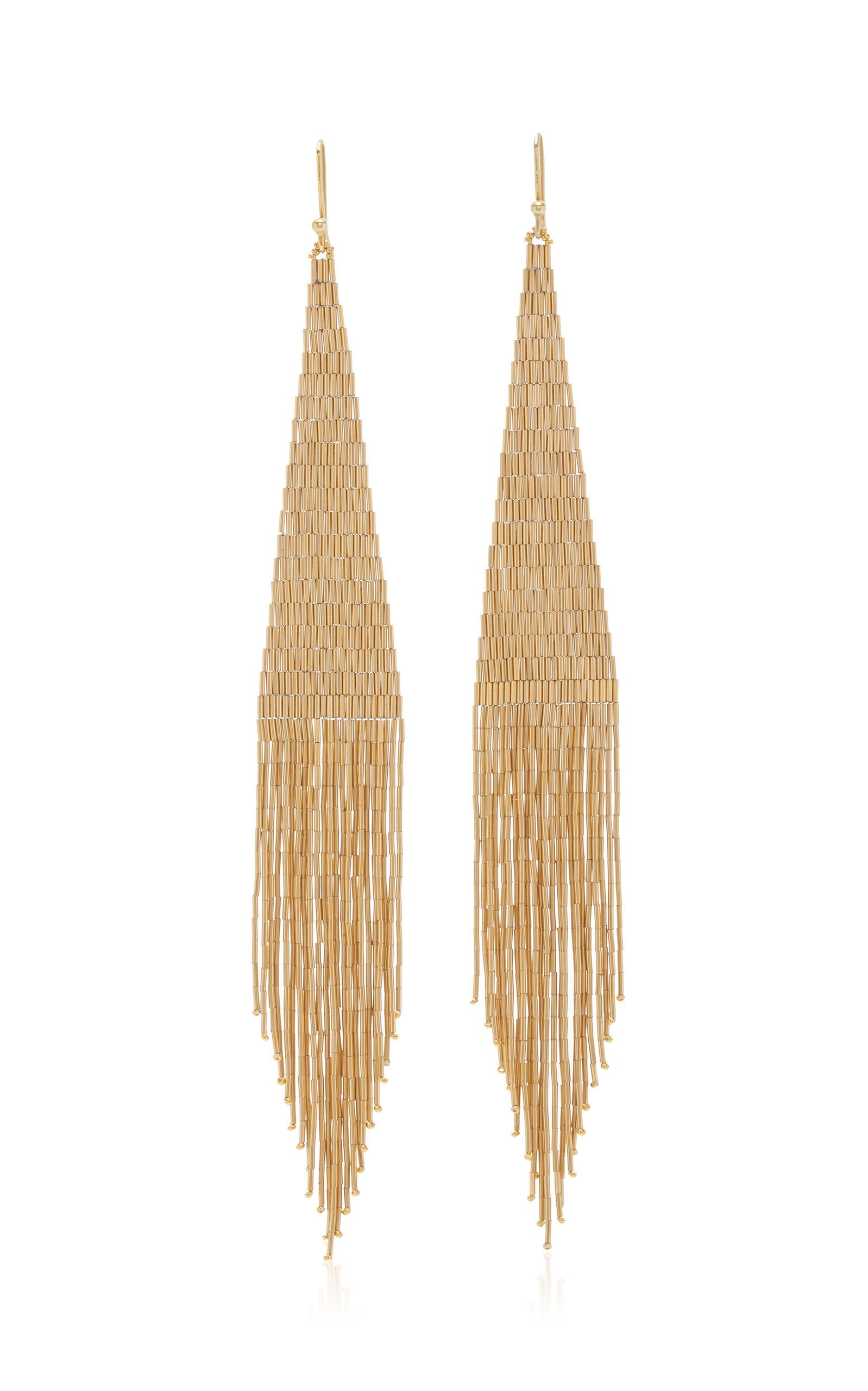 Lisa Eisner 14K Gold Fringe Earrings