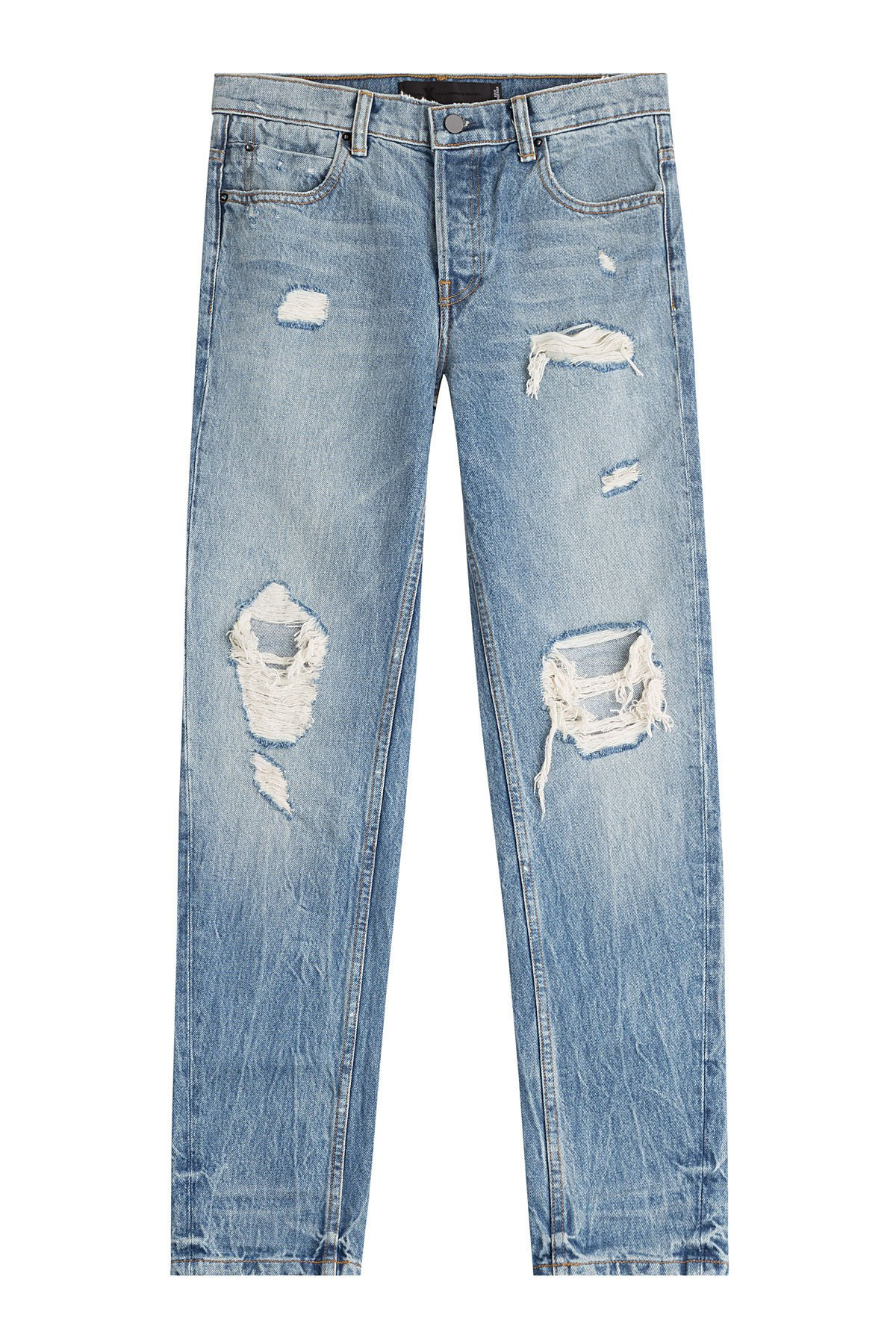 Distressed Straight Jeans Gr. 28