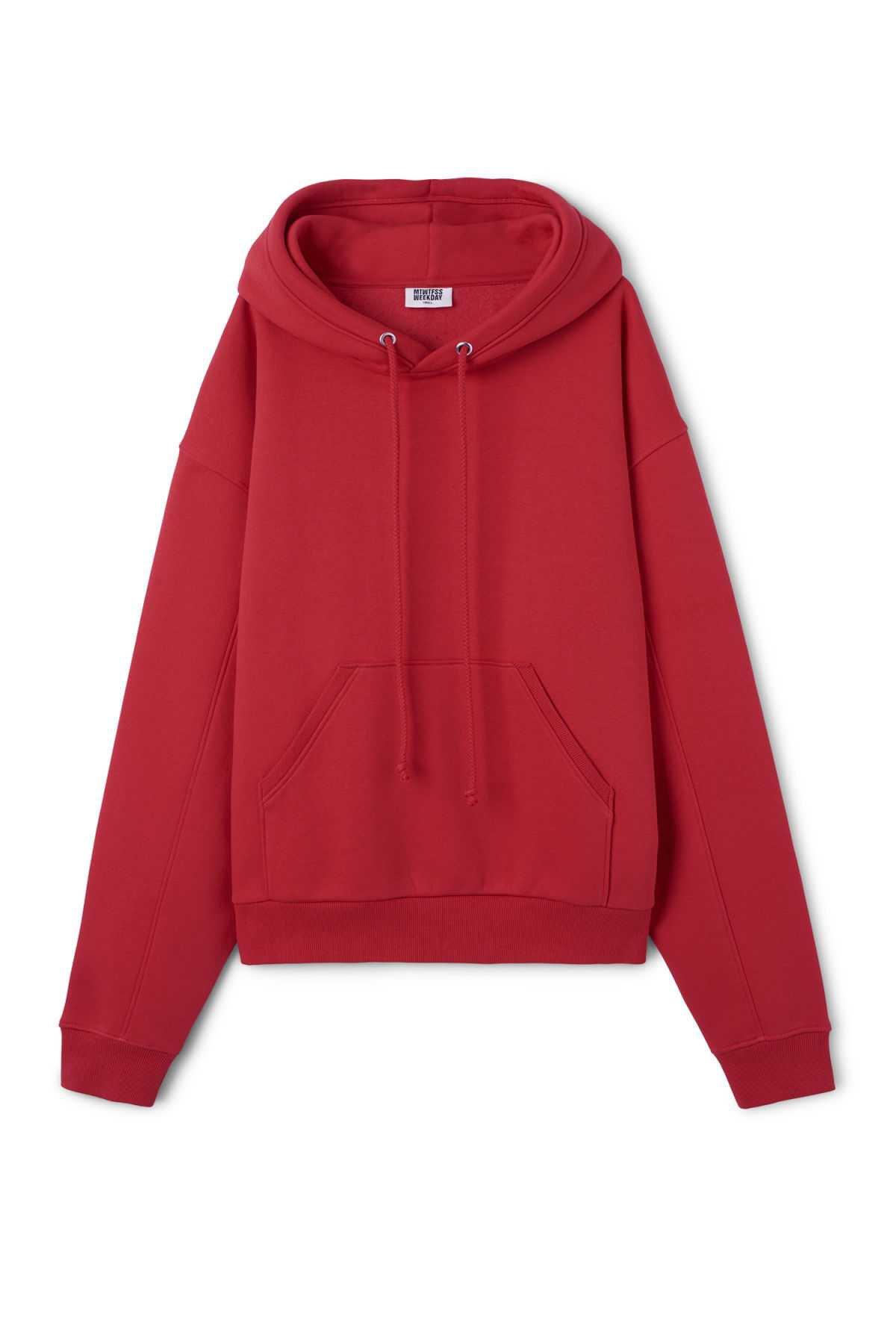 Ailin Hooded Sweatshirt - Light Red - Hoodies & sweatshirts - Weekday GB