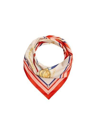 Violeta BY MANGO Chain printed scarf
