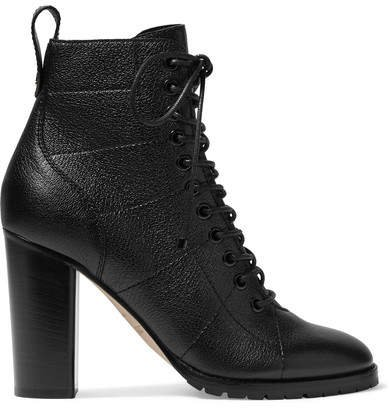 Cruz 95 Textured-leather Ankle Boots - Black