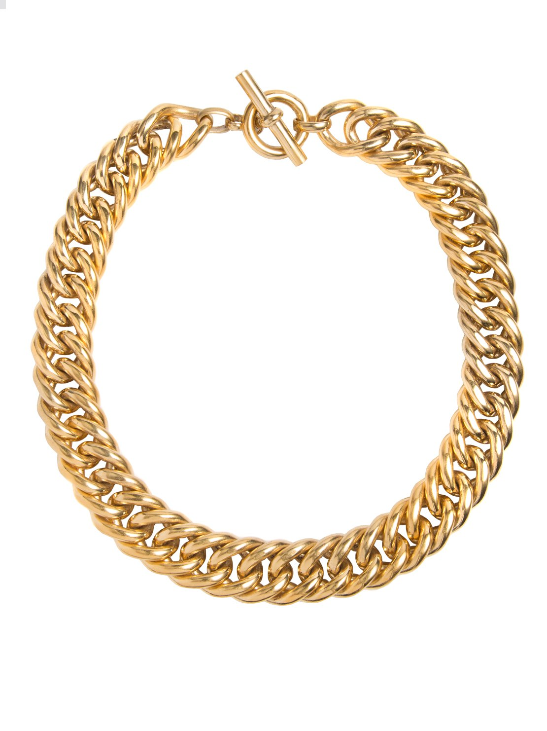 Large Gold Curb Chain Necklace - Tilly Sveaas Jewellery