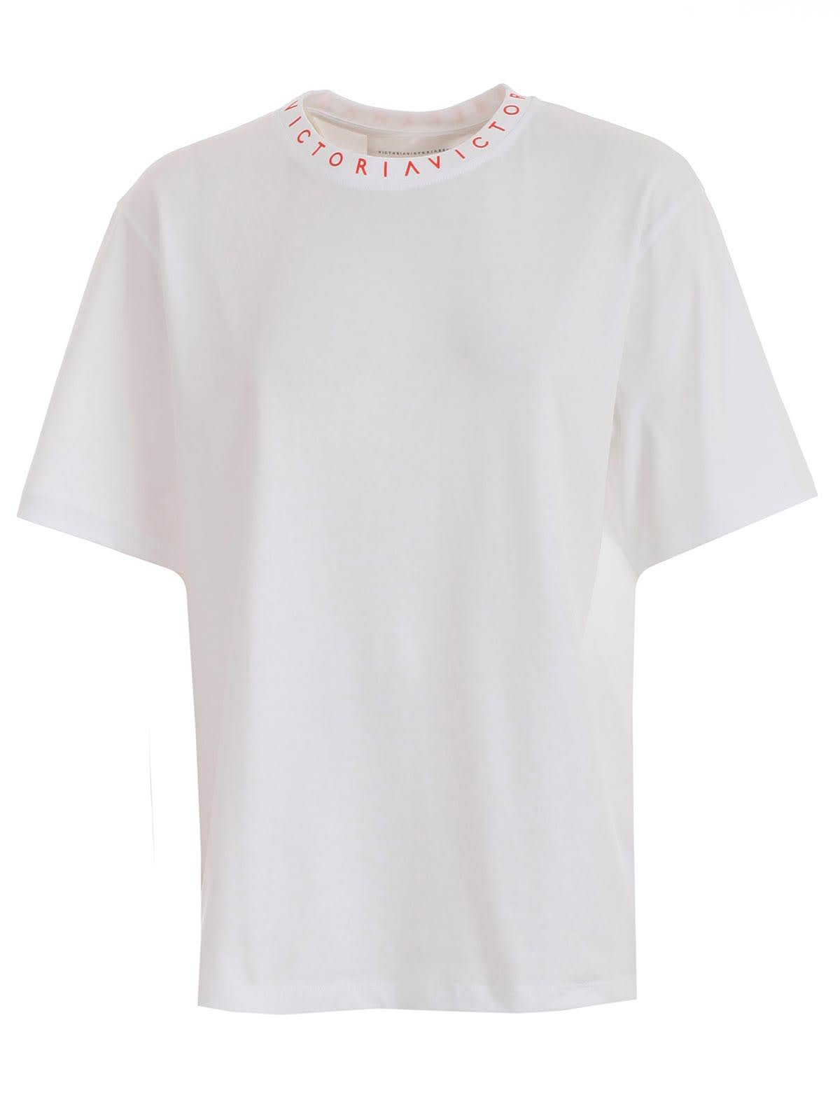 Victoria Victoria Beckham T-shirt W/logo On Neck