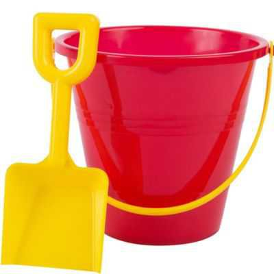 Red Pail and Yellow Shovel