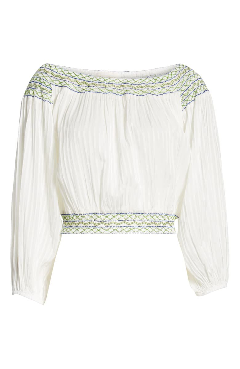 A LA PLAGE Smocked Off the Shoulder Top | Nordstrom