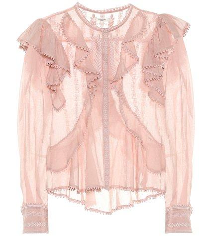 Alea embroidered cotton blouse