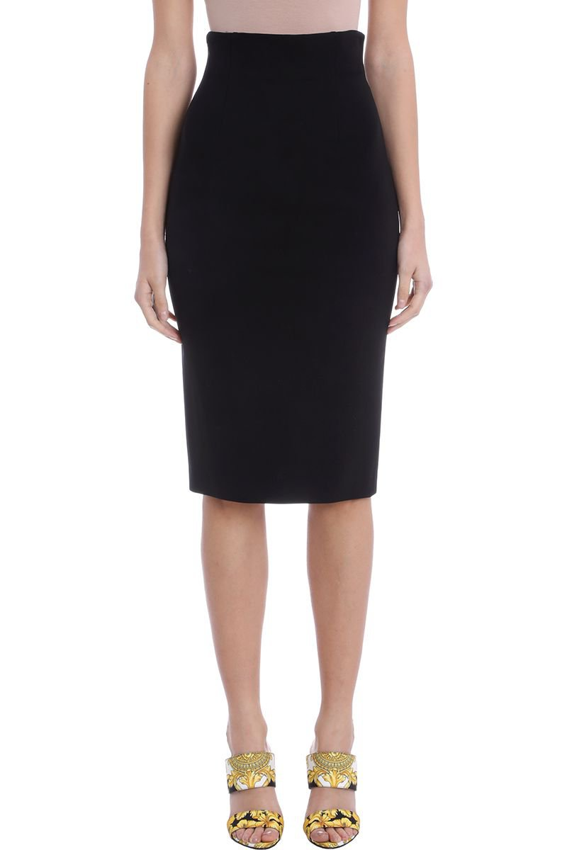Versace Back Zip Pencil Skirt