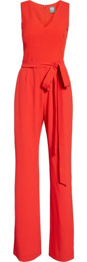 Vince Camuto Tie Front Wide Leg Jumpsuit (Regular & Petite)   Nordstrom