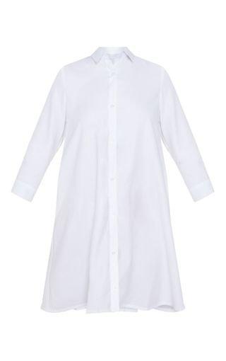 Leni White Shirt Dress - Dresses - PrettylittleThing | PrettyLittleThing