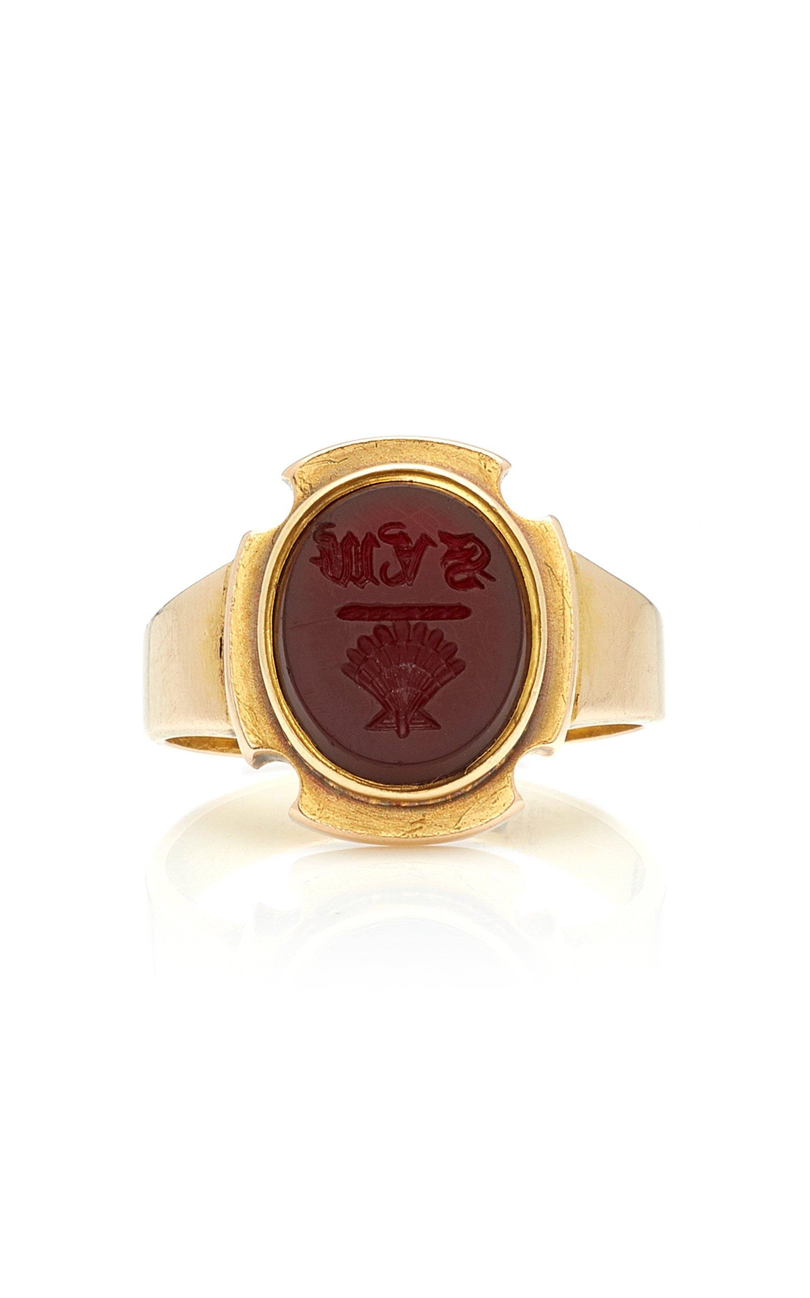 VELA 15K Gold Carnelian Ring