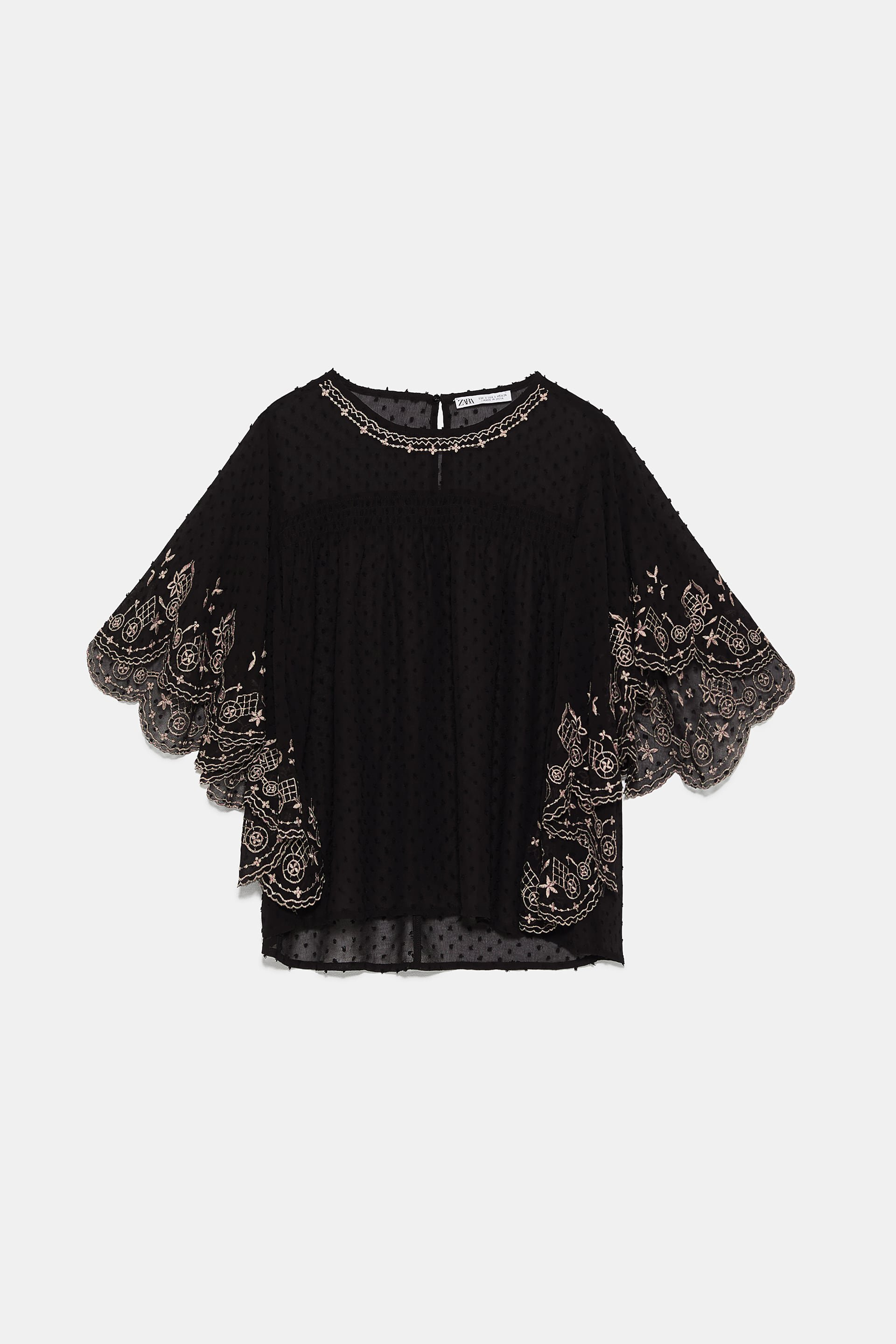 EMBROIDERED SWISS DOT BLOUSE - View All-SHIRTS   BLOUSES-WOMAN   ZARA United States