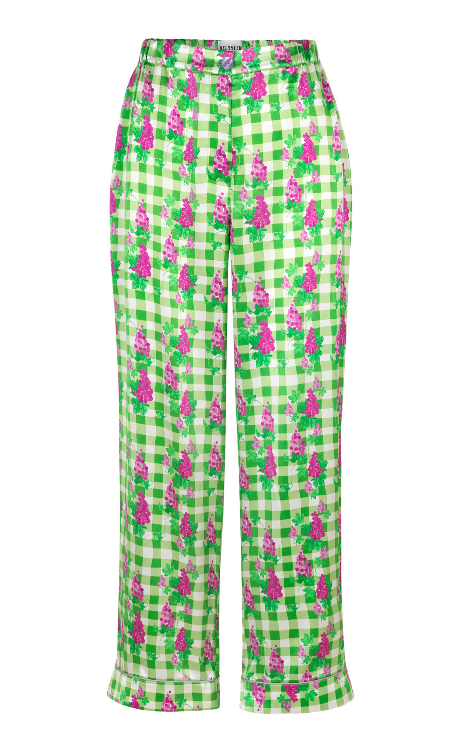 Helmstedt Wide Leg Silk Satin Pants Size: M/L